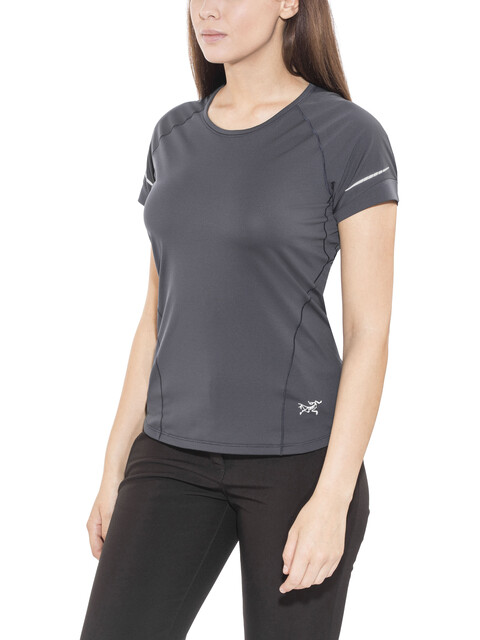 Arc'teryx Motus Crew SS Shirt Women Black Sapphire